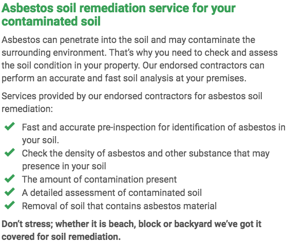 Asbestos Watch Bunbury - soil remediation right